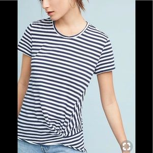 Anthropologie Stateside Twisted Front Stripe Top